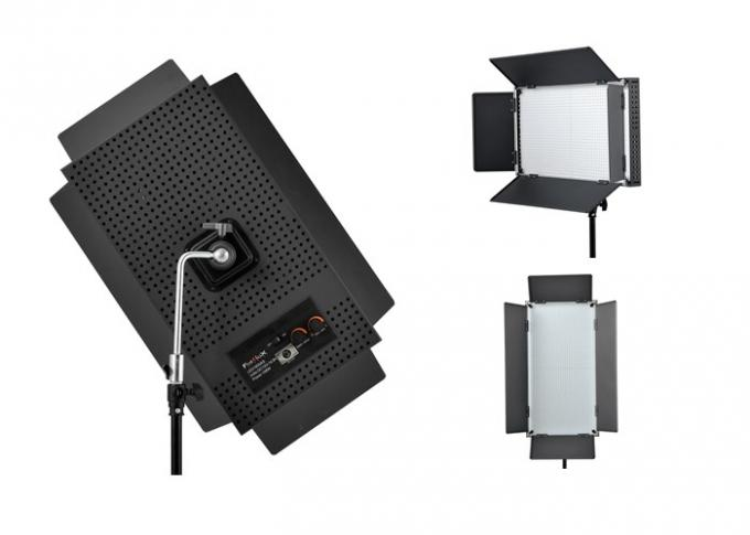 95CRI Rectangle LED Broadcast Lighting With V Battery Mount and LCD