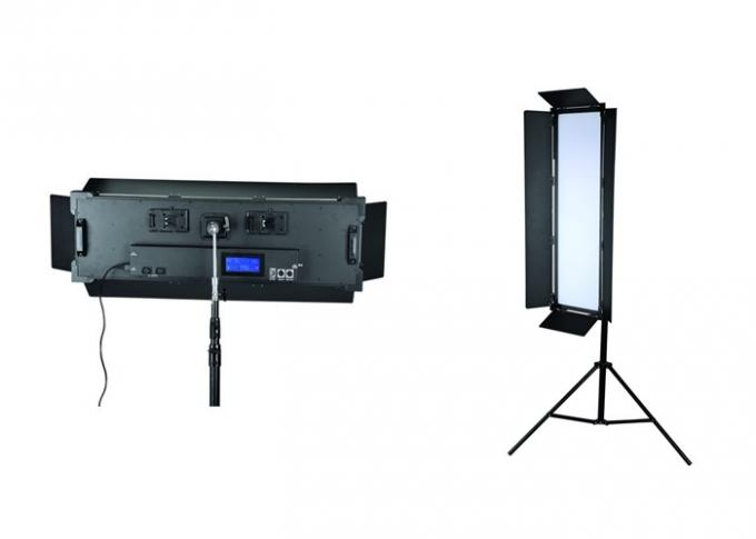 Long Shape High Power 200W Bi Color LED Studio Photography Light With Barndoor P-2400ASVL
