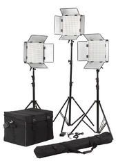 High Brightness 3 Light LED Studio Lighting Kit For Video Room