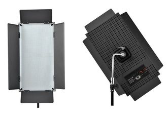 China 95CRI Rectangle LED Broadcast Lighting With V Battery Mount and LCD supplier
