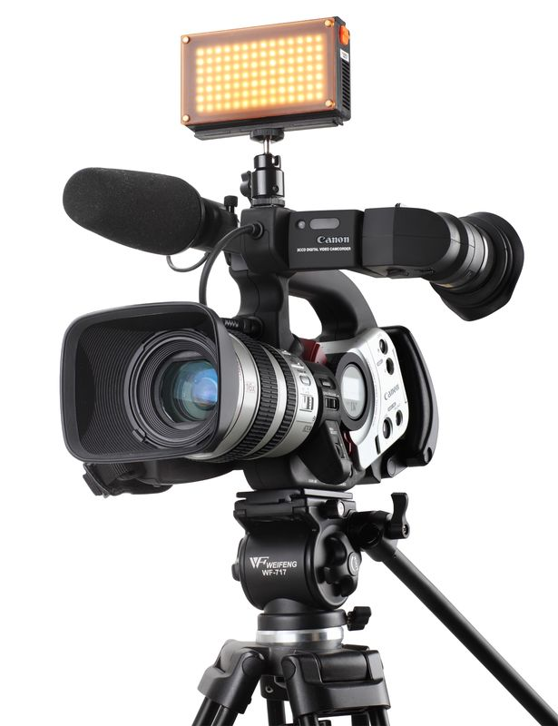 Smart Dimmable Camera Lighting Equipment , LED Cam Lights 450 Lux/M
