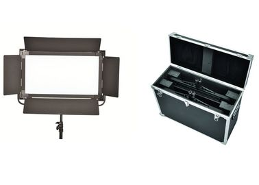 China High Soft Brightness Long Broadcast Studio Led Lighting Kits With Black Barndoor factory