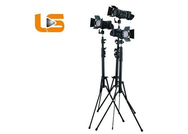 China 50W High Power LED Professional Studio Lighting Kits Focusable Black Metal Housing factory