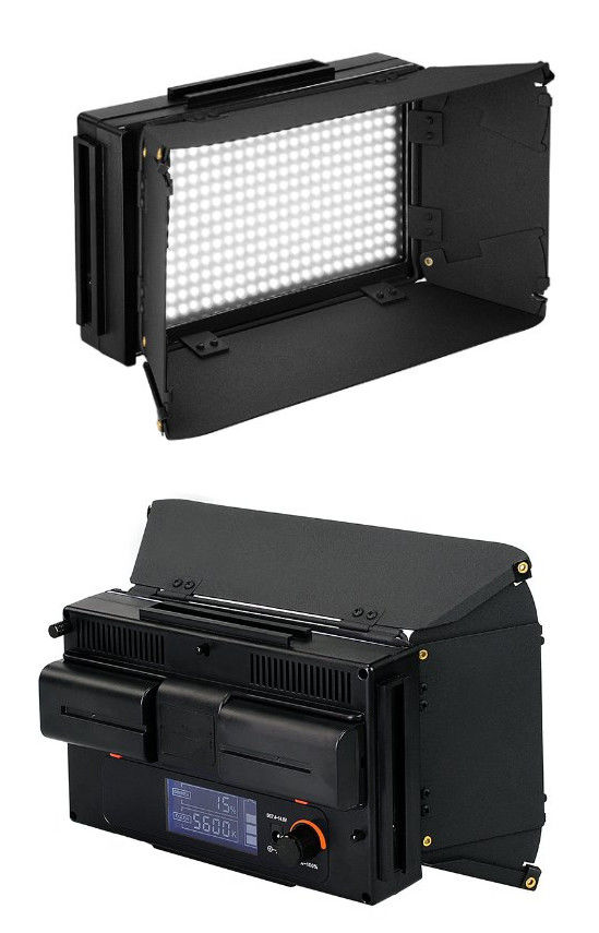 Adjustable Stackable LED Video Camera Lighting with Batteries
